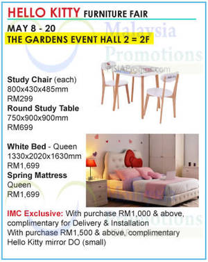 Featured image for Hello Kitty Furniture Fair @ The Gardens 8 – 20 May 2015