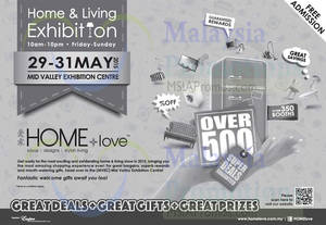 Featured image for HOME+love Pameran Home & Living Exhibition @ Mid Valley Exhibition Centre 29 – 31 May 2015