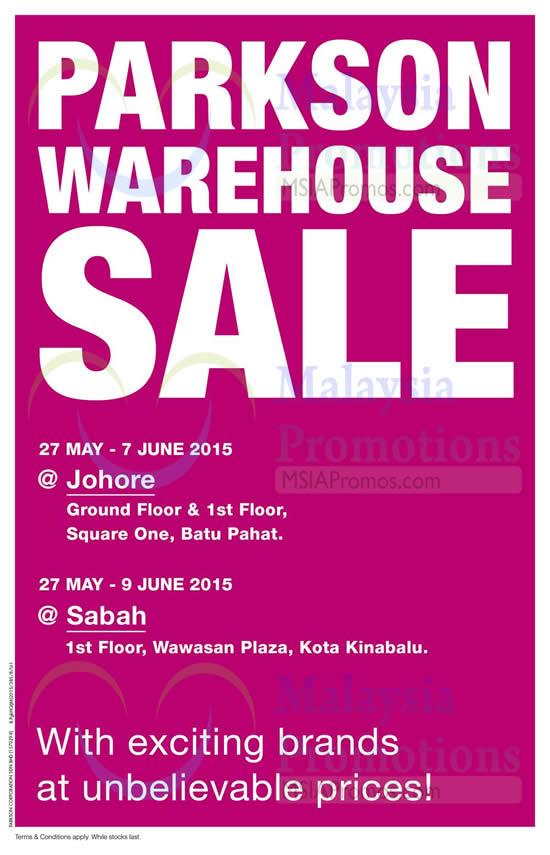 Featured image for Parkson Warehouse Sale @ Wawasan Plaza KK 27 May - 9 Jun 2015