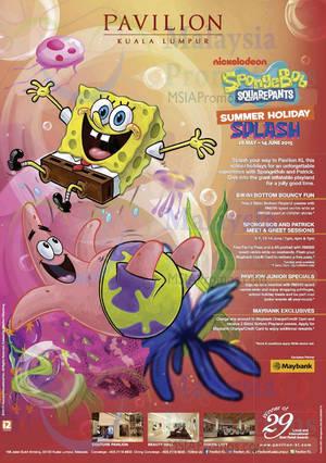 Featured image for Pavilion KL SpongeBob SquarePants Promotions & Activities 30 May – 14 Jun 2015