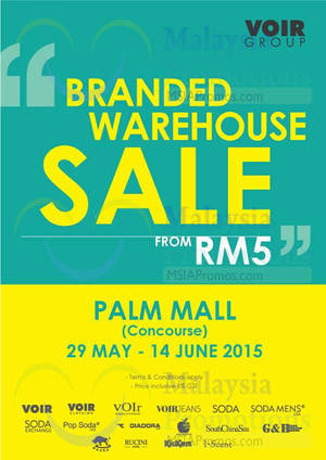 Featured image for Voir Branded Warehouse Sale @ Palm Mall 30 May – 14 Jun 2015