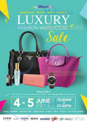 83c4a52597 myiMart Luxury Fashion Warehouse Sale @ Wisma Uoa II KL 4 – 5 Jun 2015