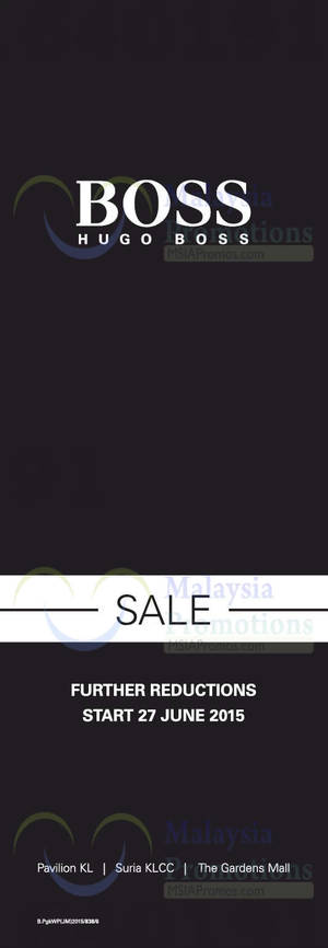 Featured image for Hugo Boss (Further Reductions) SALE 7 Jun 2015