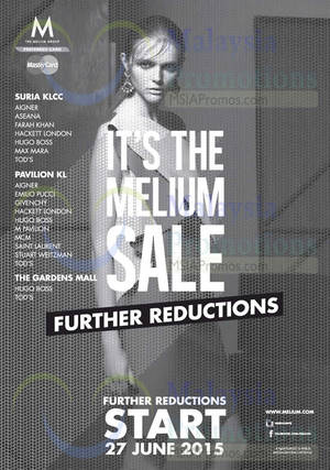 Featured image for Melium SALE From 7 Jun 2015