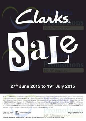 Featured image for Clarks SALE 27 Jun – 19 Jul 2015
