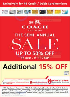 Featured image for Coach Semi-Annual SALE 30 Jun – 19 Jul 2015