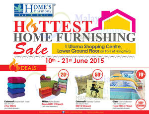 Featured image for Home's Harmony Home Furnishing Deals @ 1 Utama 10 – 21 Jun 2015