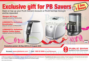 Featured image for Public Bank Deposit & Get FREE Gifts 30 Jun – 31 Aug 2015
