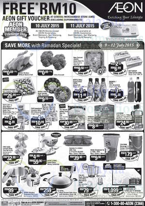 Featured image for AEON GMS Free RM10 Voucher 2-Days Member Promo 10 – 11 Jul 2015