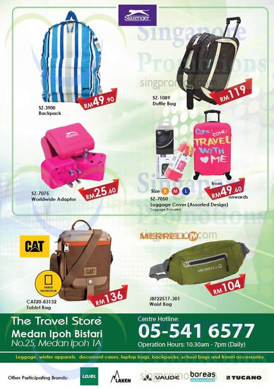 Backpacks, Waist Bags, Tablet Bag, Slazenger, CAT, Marrell