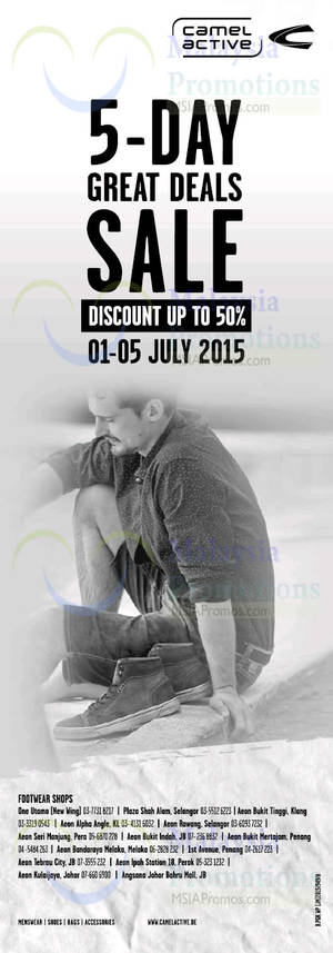Camel Active Mid Year End SALE 1 – 5 Jul 2015