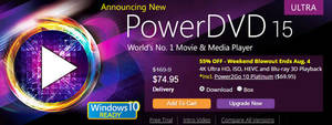 Featured image for CyberLink 60% OFF PowerDVD 15 Ultra Movie & Media Player Software 30 Jul – 4 Aug 2015