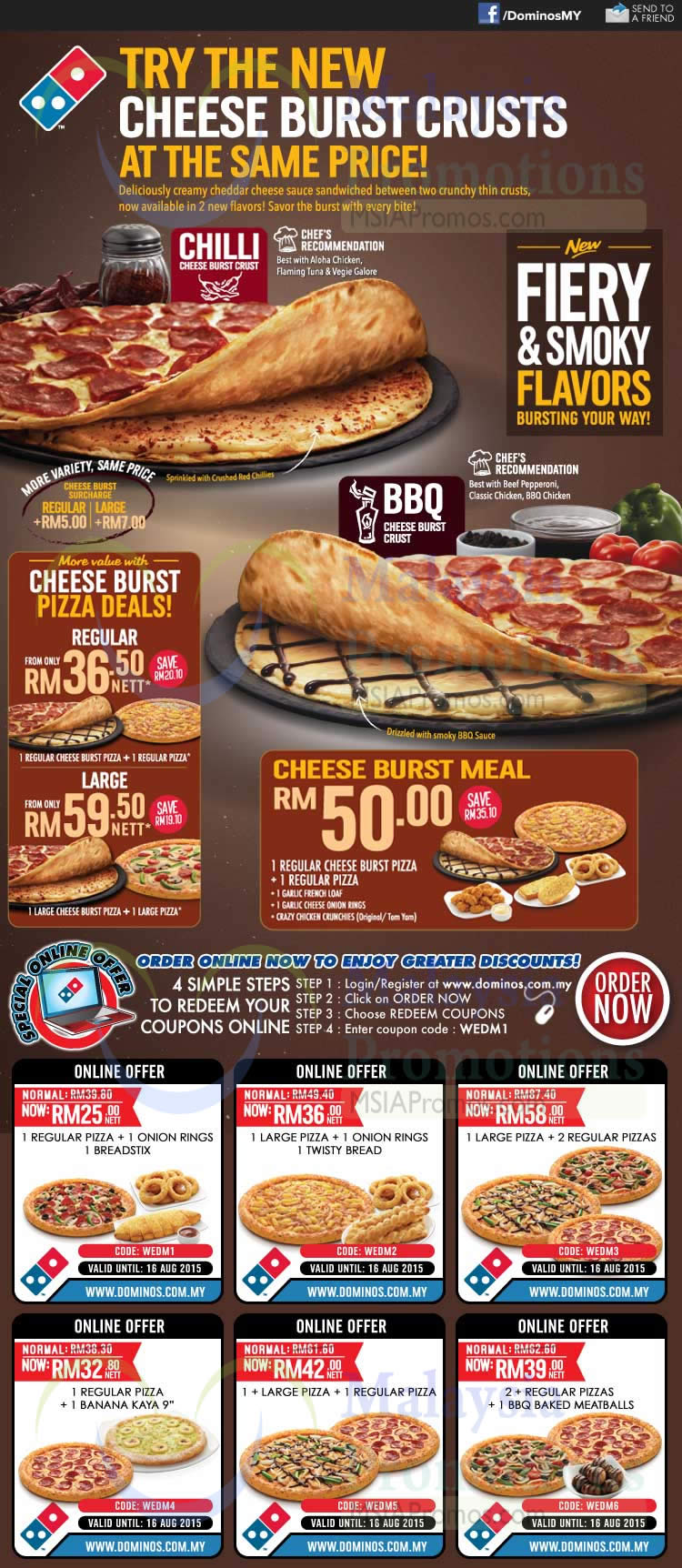 Dominos discount coupons au