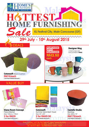 Featured image for Home's Harmony Home Furnishing Deals @ Setia City Mall 29 Jul – 10 Aug 2015