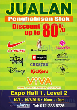 Featured image for Jetz Branded Fashion Clearance Sale @ Viva Home 13 – 19 Jul 2015