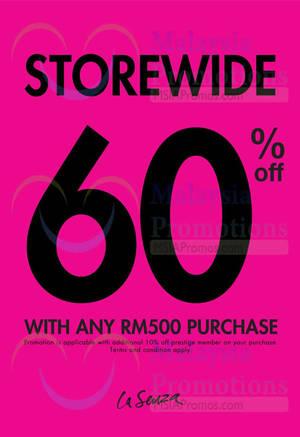 Featured image for La Senza 60% Storewide Promotion 30 Jul – 2 Aug 2015