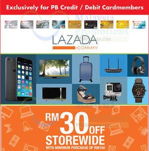 Featured image for Lazada RM30 OFF RM150 Min Spend Coupon Code For Public Bank Cardmembers 15 Jul – 14 Aug 2015
