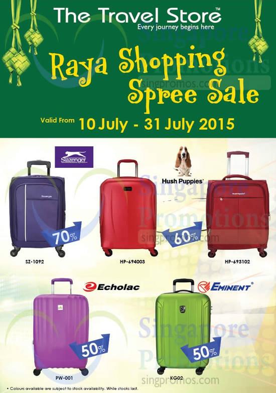Luggages Hush Puppies, Slazenger, Echolac, Eminent