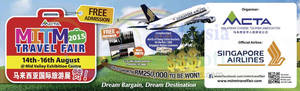 Featured image for MITM Travel Fair @ Mid Valley Exhibition Centre 14 – 16 Aug 2015