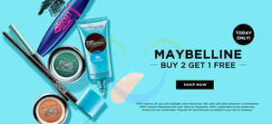 Featured image for Maybelline Buy 2 Get 1 FREE 1-Day Online Promo 29 Jul 2015