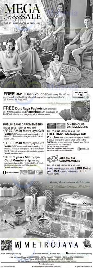 Featured image for Metrojaya Mega Raya Sale 27 Jun – 31 Aug 2015