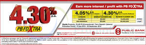 Featured image for Public Bank 4.30% p.a. FD Xtra 21 Jul – 16 Nov 2015
