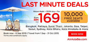 Featured image for Air Asia Go fr RM169 3D2N Stay + Flights + Taxes Promo 31 Aug – 6 Sep 2015
