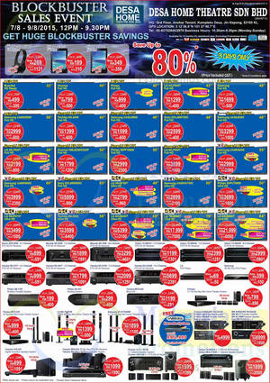 Featured image for Desa Home Theatre Audio Visual TVs, HiFi & Other Offers 14 Aug 2015