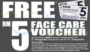 Featured image for Guardian Spend RM50 & Get FREE Face Care RM5 Voucher 21 – 24 Aug 2015