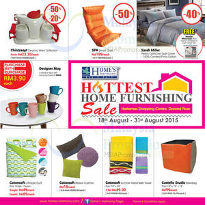 Featured image for Home's Harmony Furnishing Sale @ Hartamas Shopping Centre 18 – 31 Aug 2015