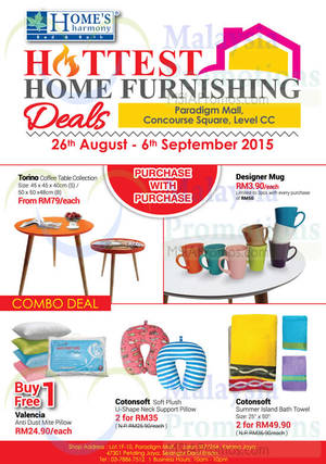 Featured image for Home's Harmony Home Furnishing Deals @ Paradigm Mall 26 Aug – 6 Sep 2015