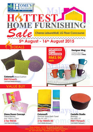 Featured image for Home's Harmony Home Furnishing Deals @ Cheras Leisure Mall 5 – 16 Aug 2015