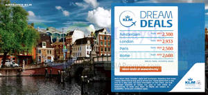 Featured image for KLM Dream Deals 30 Aug – 18 Sep 2015