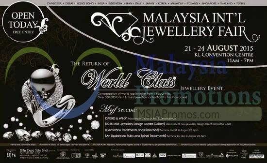 Malaysia International Jewellery Fair 21 Aug 2015