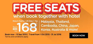 Featured image for Air Asia Go fr RM168 Book Hotel & Get FREE Seats Promo 7 – 13 Sep 2015