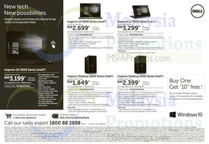 Featured image for Dell Notebooks & Desktop PC Offers 20 Sep 2015