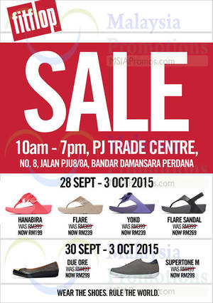 Featured image for FitFlop Sale @ PJ Trade Centre 30 Sep – 3 Oct 2015