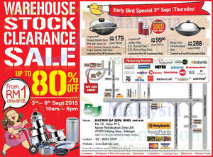 Featured image for Katrin BJ Warehouse Stock Clearance SALE @ Subang Jaya 3 – 6 Sep 2015