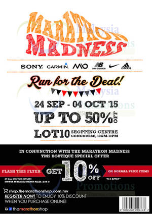 Featured image for Marathon Shop Madness Event @ Lot 10 24 Sep – 4 Oct 2015