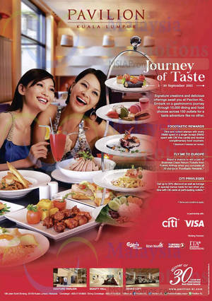 Featured image for Pavilion KL Journey of Taste Promotions & Activities 3 – 30 Sep 2015