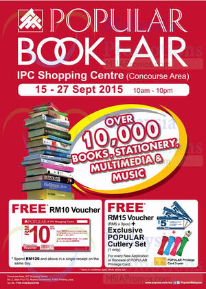 Featured image for Popular Book Fair @ IPC Shopping Centre 15 – 27 Sep 2015
