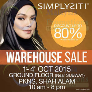 Featured image for Simplysiti Warehouse Sale @ PKNS Shah Alam 1 – 4 Oct 2015