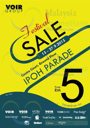 Featured image for Voir Group Festival Sale @ Ipoh Parade 15 – 27 Sep 2015