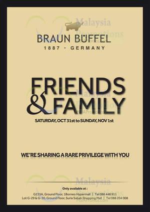 Featured image for Braun Buffel Friends & Family Sale @ 1Borneo 31 Oct – 1 Nov 2015