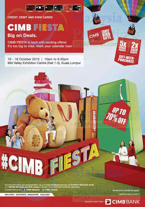 Featured image for CIMB Fiesta @ Mid Valley Exhibition Centre 16 – 18 Oct 2015