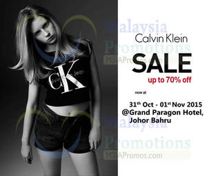 Featured image for Calvin Klein, Armani Exchange & Fred Perry Warehouse Sale @ Grand Paragon Hotel JN 31 Oct – 1 Nov 2015
