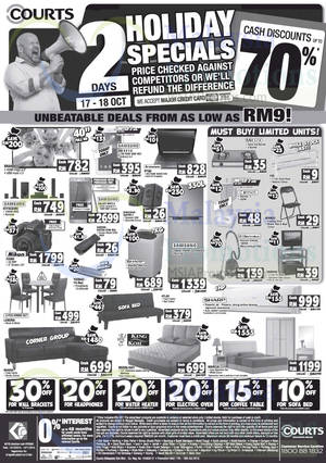 Featured image for Courts Up To 70% Off Savings Offers 17 – 18 Oct 2015