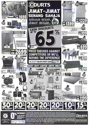 Featured image for Courts Up To 65% Off Savings Offers 24 – 26 Oct 2015