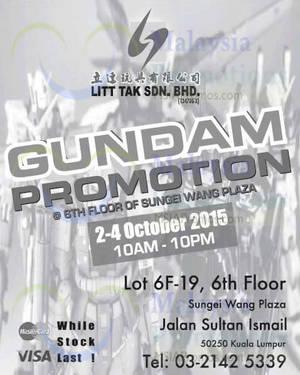 Featured image for Litt Tak Gundam Promotion @ Sungei Wang Plaza 2 – 4 Oct 2015