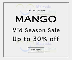 Featured image for Mango Mid Season Sale Online 1 – 11 Oct 2015